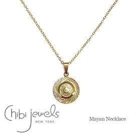 【再入荷】≪chibi jewels≫ チビジュエルズゴールドメダル サークル ネックレス Mayan Medal Necklace (Gold)【レディース】 ワンマイルコーデ【楽ギフ_包装】