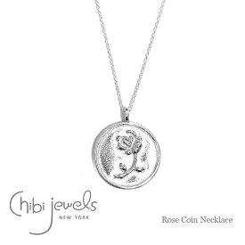 【待望の最新作】≪chibi jewels≫ チビジュエルズバラ 薔薇 コインネックレス メダリオン サークル シルバー ネックレス SV925 Rose Coin Necklace (Silver)【レディース】 ワンマイルコーデ