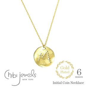 【再入荷】【スタイリストの大草直子さん愛用】≪chibi jewels≫ チビジュエルズ 星 イニシャル 型抜き スター コインネックレス メダル ゴールド ネックレス 14金仕上げ Initial Coin Necklace (Gold)
