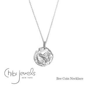 【予約販売 3月入荷】≪chibi jewels≫ チビジュエルズモロッコ 蜂 ハチ モチーフ コインネックレス メダリオン シルバー ネックレス コイン SV925 Bee Coin Necklace (Silver)【レディース】 ワンマイル