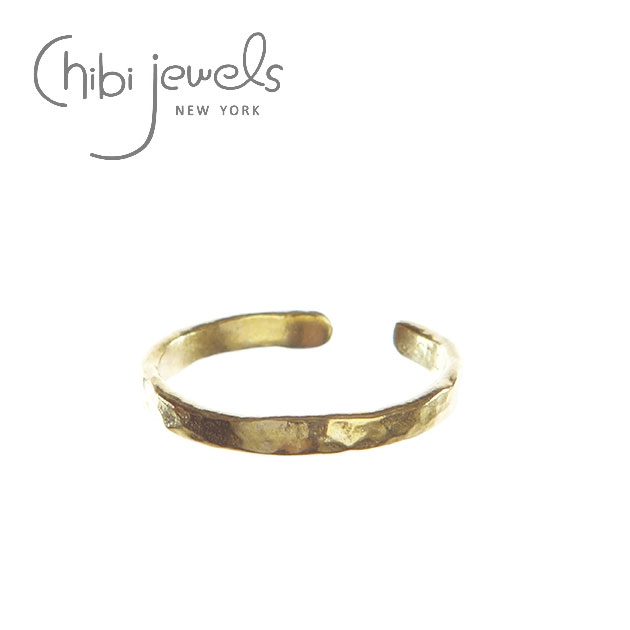 【BAILA 雑誌掲載】【再入荷】≪chibi jewels≫ チビジュエルズシンプル C型 ゴールドリング Hammered Texture Ring (Gold)【レディース】【楽ギフ_包装】