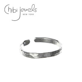 【CLASSY / BAILA 雑誌掲載】【ar 雑誌掲載】【再入荷】【お買い物マラソン 1000円OFFクーポン配布中】≪chibi jewels≫ チビジュエルズシンプル C型 シルバー 2WAY リング イヤーカフ Hammered Texture Ring (Silver)【レディース】