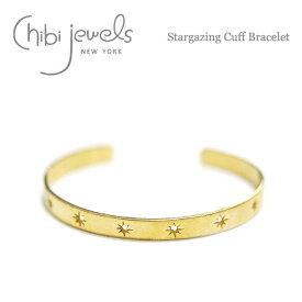 【STORY 雑誌掲載】【再入荷】≪chibi jewels≫ チビジュエルズ星モチーフ ゴールドバングル Stargazing Cuff Bracelet (Gold)【レディース】【楽ギフ_包装】