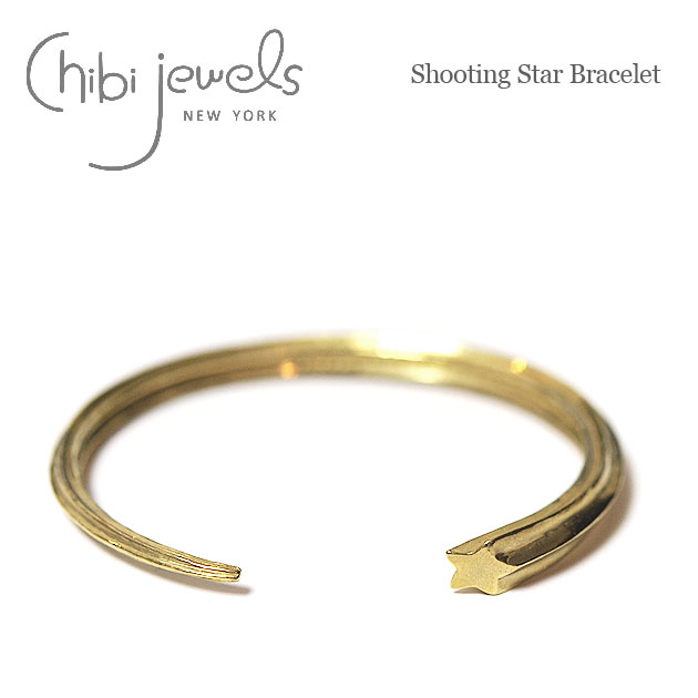 【再入荷】≪chibi jewels≫ チビジュエルズ流れ星モチーフ ゴールドバングル Shooting Star Bracelet (Gold)【レディース】【楽ギフ_包装】