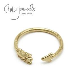 【CanCam 雑誌掲載】【再入荷】【お買い物マラソン 1000円OFFクーポン配布中】≪chibi jewels≫ チビジュエルズボヘミアン 弓矢 アローゴールドリング Arrow Ring (Gold)【レディース】【ギフト ラッピング】