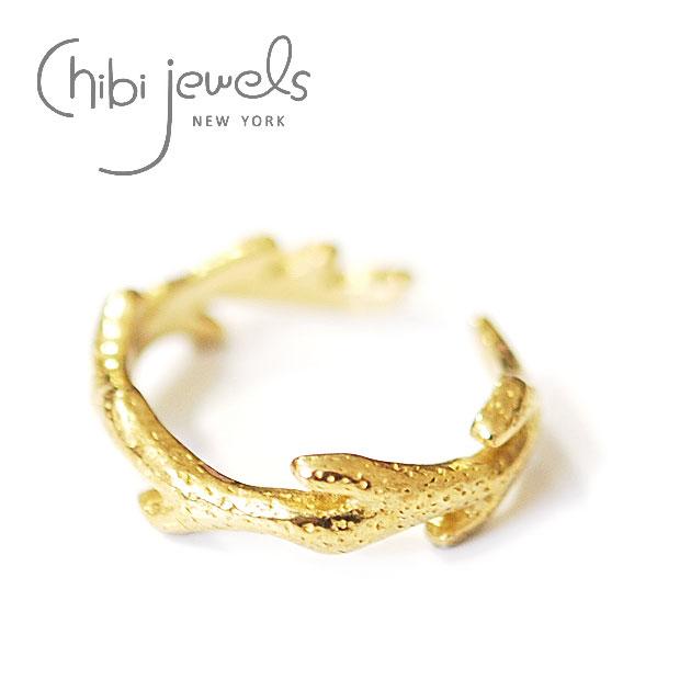 【再入荷】≪chibi jewels≫ チビジュエルズ珊瑚 サンゴモチーフ C型リング 指輪 Coral Branch Ring (Gold)【レディース】【楽ギフ_包装】