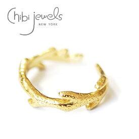 【再入荷】【お買い物マラソン 1000円OFFクーポン配布中】≪chibi jewels≫ チビジュエルズ珊瑚 サンゴモチーフ C型 2WAY リング イヤーカフ 指輪 Coral Branch Ring (Gold)【レディース】【母の日】【ギフト ラッピング】