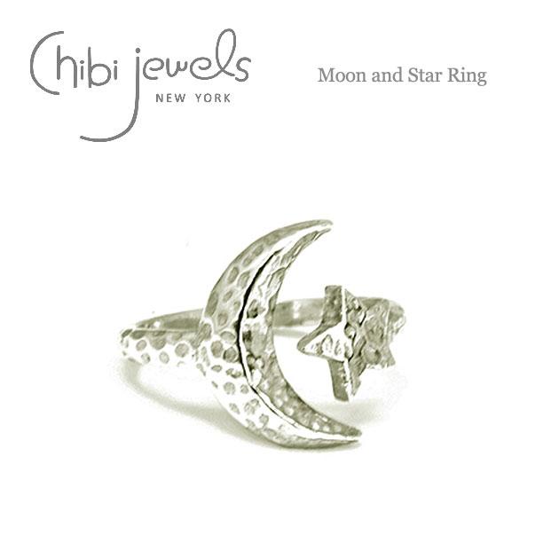 【再入荷】≪chibi jewels≫ チビジュエルズ月と星モチーフ シルバーリング Moon and Star Ring (Silver)【レディース】【楽ギフ_包装】