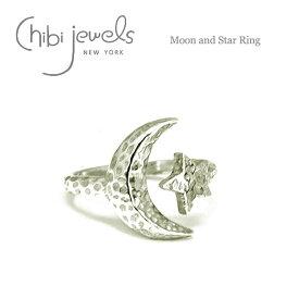 【再入荷】【お買い物マラソン 1000円OFFクーポン配布中】≪chibi jewels≫ チビジュエルズ月と星モチーフ シルバーリング Moon and Star Ring (Silver)【レディース】【母の日】【ギフト ラッピング】