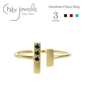 【STORY 雑誌掲載】≪chibi jewels≫ チビジュエルズ全3色 バー 天然石 ガーネット ターコイズ C型リング Gemstone Chime Ring (Gold)【レディース】 ワンマイルコーデ
