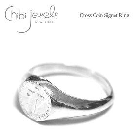 【再入荷】≪chibi jewels≫ チビジュエルズコイン メダル メダイ クロス コンチョ シルバー シグネットリング リング 指輪 Cross Coin Ring (silver)【レディース】 ワンマイルコーデ