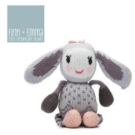 ≪Finn+Emma≫ フィンアンドエマうさぎ ぬいぐるみ オーガニックコットン Rattle Buddy Rabbit【ベビー】【キッズ】【楽ギフ_包装】