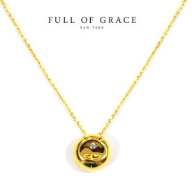 【VERY 雑誌掲載】【再入荷】≪FULL OF GRACE≫ フルオブグレイスキュービックジルコニア ゴールド サークル ネックレス Gold Necklace (Gold)【レディース】 ワンマイルコーデ