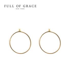 【再入荷】【VoCE 雑誌掲載】≪FULL OF GRACE≫ フルオブグレイスシンプル ワイヤーフープピアス Sサイズ Hoop Earrings (Gold)【レディース】 ワンマイルコーデ