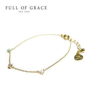 ≪FULL OF GRACE≫ フルオブグレイスオパール キュービックジルコニア ゴールド チェーン ブレスレット モダンコレクション Aries Bracelet (Gold)【レディース】【プレゼント ラッピング】