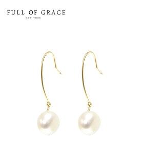 【待望の最新作】≪FULL OF GRACE≫ フルオブグレイス モダンコレクション ひと粒 パール フック ピアス Pearl Earrings (Gold)【レディース】 ワンマイルコーデ