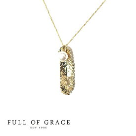 【CLASSY 雑誌掲載】【再入荷】≪FULL OF GRACE≫ フルオブグレイス真珠パール 羽根フェザーモチーフ ネックレス Pearl Feather Necklace (Gold)【レディース】 ワンマイルコーデ【ギフト ラッピング】