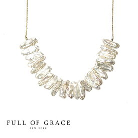 ≪FULL OF GRACE≫ フルオブグレイス真珠パール ゴールドネックレス Pearl Gold Necklace (Gold)【レディース】 ワンマイルコーデ【ギフト ラッピング】