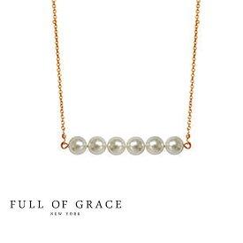【再入荷】≪FULL OF GRACE≫ フルオブグレイスモダンコレクション パール ゴールドネックレス チョーカー Aube Pearl Necklace(Gold)【レディース】 ワンマイルコーデ【交換・返品不可】