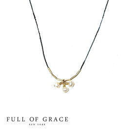 ≪FULL OF GRACE≫ フルオブグレイス 全3色 モダンコレクション 真珠パール コードネックレス PEARL CHERRY Code Necklace (Gold)【レディース】【ギフト ラッピング】