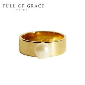 ≪FULL OF GRACE≫ フルオブグレイス モダンコレクション パール リング Modern Collection Pearl Ring (Gold)【レディース】 ワンマイルコーデ