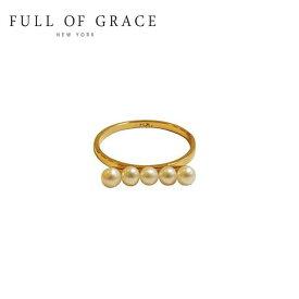 【再入荷】≪FULL OF GRACE≫ フルオブグレイス モダンコレクション パール バー リング Modern Collection Pearl Bar Ring (Gold)【レディース】 ワンマイルコーデ【ギフト ラッピング】