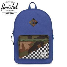 【8歳以上】≪The Herschel Supply Co.≫ ハーシェルブルー リュック ヘリテージ バックパック 子供 バッグ 通学 Heritage Backpack XL Youth Deep Ultramarine/Checker/Woodland Camoキッズ/男の子