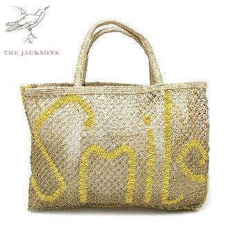 ≪The Jacksons≫這個杰克遜波希米亞人Smile微笑標識層次或者包Message Jute Bag