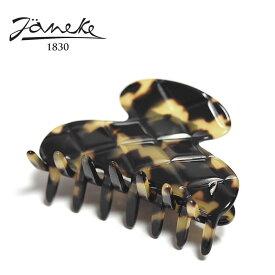 【再入荷】≪Janeke≫ ヤネケキルティング型 べっ甲 ブラウン スモール ラウンド ヘアクリップ Hair Clip (Tortoise)【レディース】