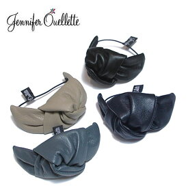 ★≪Jennifer Ouellette≫ ジェニファー・オーレット全4色 レザー リボン ヘアゴム Bow with Leather Pony Hair tie【レディース】