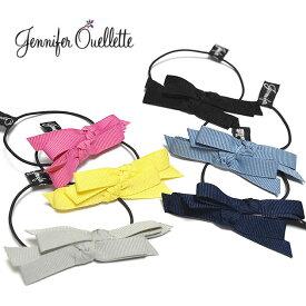 【待望の最新作】≪Jennifer Ouellette≫ ジェニファー・オーレット全6色 グログラン ダブル リボン ヘアゴム Grograin Double Bow Hair Ponytail【レディース】