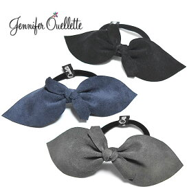 ★≪Jennifer Ouellette≫ ジェニファー・オーレットスエード素材 リボン ヘアゴム Suede Tear Drop Bow with Knot Hair Tie【レディース】