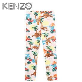 【4歳/5歳/6歳/7歳】≪KENZO≫ ケンゾーハワイ柄 レギンス ピンク ハワイアン ヒョウ トラ ライオン ボトムスHawai skirt (Light Pink)キッズ/女の子/子供