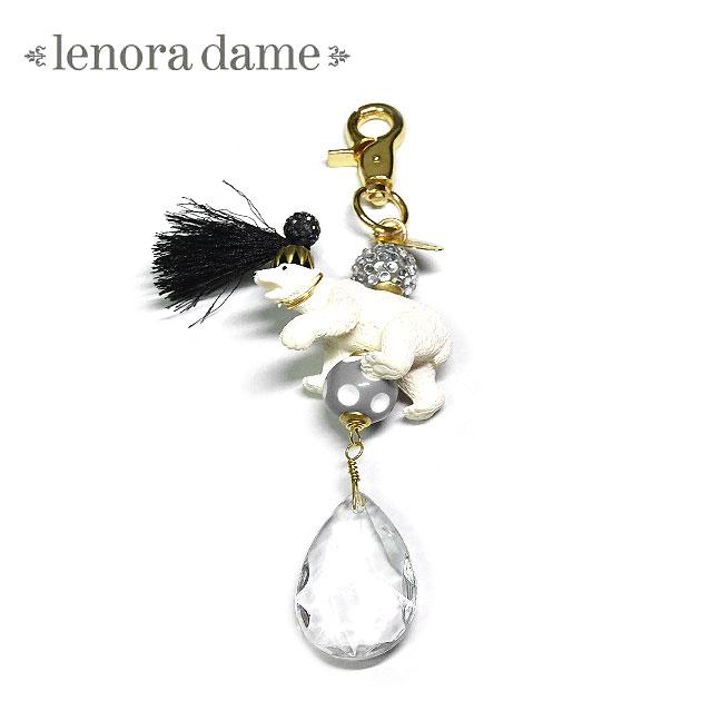【待望の最新作】≪lenora dame≫ レノラデイムシロクマ クリアドロップ チャーム キーリング キーホルダー White Bear Clear Drop Charm Key Ring (Gold)【レディース】【楽ギフ_包装】