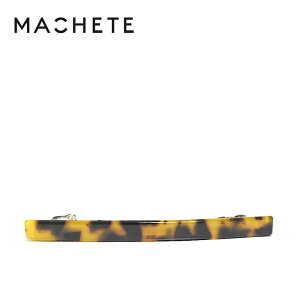 【待望の最新作】≪MACHETE≫ マシェットべっ甲 ブラウン ライン 横長 バレッタ (Classic Tortoise)【レディース】【プレゼント ギフト ラッピング】