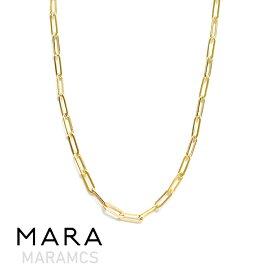 【予約販売 5月入荷】≪MARAMCS≫ マラムクス長方形 楕円 チェーン ゴールド ネックレス ブランドポーチ付き Rectangle Chain Necklace (Gold)【レディース】【新宿伊勢丹ポップアップ】【ホワイトデー】【母の日】【ギフト ラッピング】