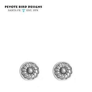 【待望の最新作】≪PEYOTE BIRD DESIGNS≫ ペヨテバード・デザインネイティブ 花 フラワー モチーフ シルバー コンチョ スタッズ ピアス SV925 Earrings (Silver)【レディース】