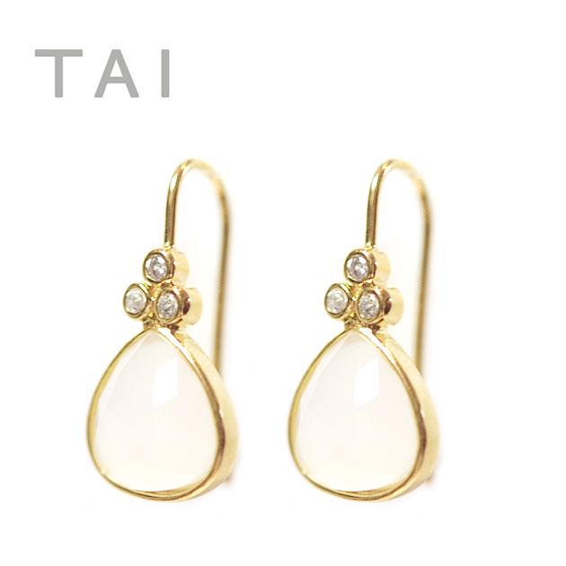 ≪TAI≫ タイキュービックジルコニア フックピアス CZ Bijou Earrings (Gold)【レディース】【楽ギフ_包装】