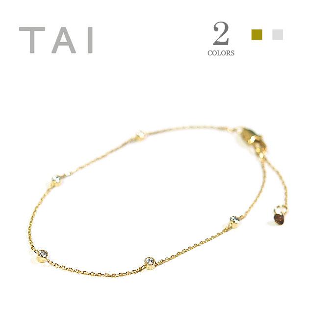 【大決算セール】≪TAI≫ タイキュービックジルコニア チェーンブレスレット Chain Bracelet (Gold)【レディース】【楽ギフ_包装】