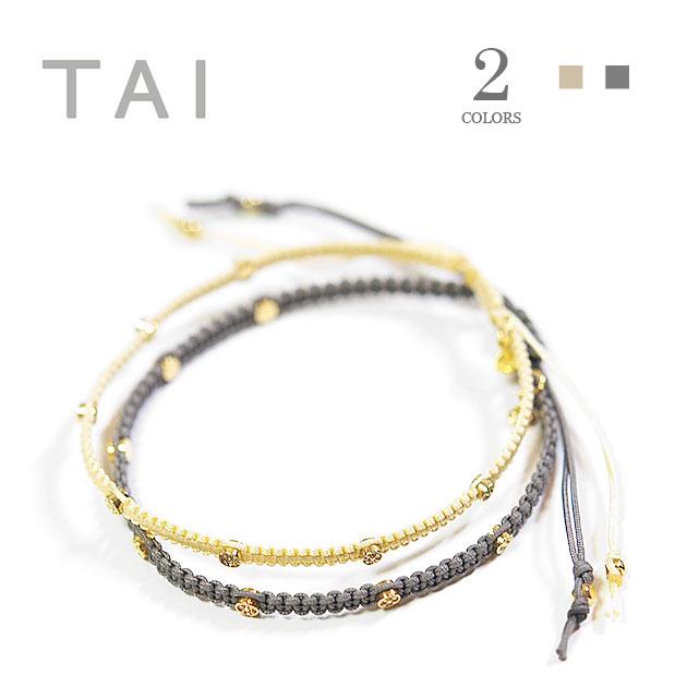 【大決算セール】≪TAI≫ タイ全2色 キュービックジルコニア コードブレスレット CZ Cord Bracelet【レディース】【楽ギフ_包装】