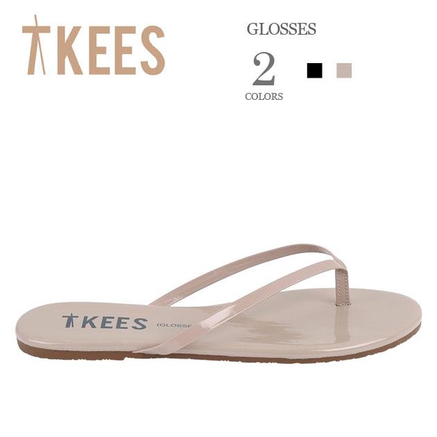 【再入荷】≪TKEES≫ ティキーズ全2色 本革 レザー ツヤあり グロスカラー トング サンダル (GLOSSES) 【レディース】
