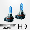 ハロゲンバルブ 車検対応 H9 4700K 2個入 日本コーティング製