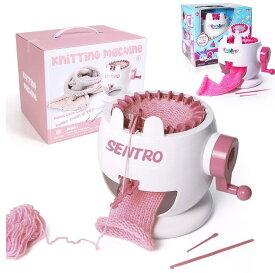 22本針 編み機 羊毛編み機 織機キット DIYデュアルモード 高速かわいい縫製おもちゃニットスカーフセーター など