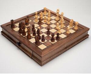 木製の西洋将棋 チェスセット 磁石付き