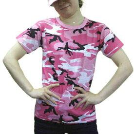 USA ミリタリーTシャツ 迷彩 ダンスピンク柄 メンズ ロスコアメリカ直輸入 ROTHCO CAMO T-SHIRTS 米軍 レプリカ仕様【マラソンポイント7倍に39ショップ送料無料】