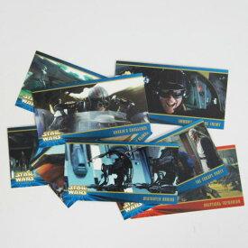 メール便送料無料 コレクター限定アイテム スターウォーズ トレーディングカード赤青タブ8枚セットエピソード1 セレクトセット 全て番号違いです