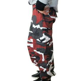 期間限定送料無料 ダンスレッド迷彩 パラシュート ファティーグパンツ ダンシング仕様 ロスコ ウィメンズ CAMO Paratrooper Fatigue Pants
