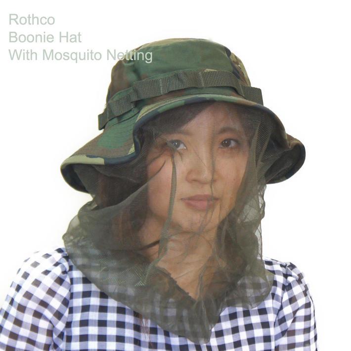防虫 迷彩 モスキートネット付き ブーニーハット ロスコBoonie Hat with Mosquito Netting